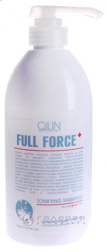 Ollin Full Force тонизирующий шампунь с экстрактом пурпурного женьшеня