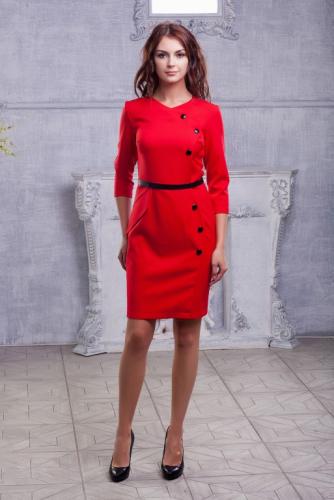 Платье красное ассиметрия