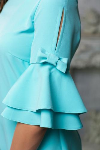 Платье с декором на рукаве цвет мята
