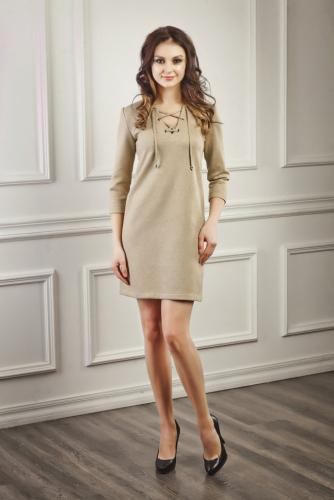 Платье замшевое цвет оливка
