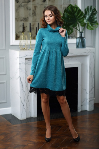 Платье в стиле бохо цвет мята