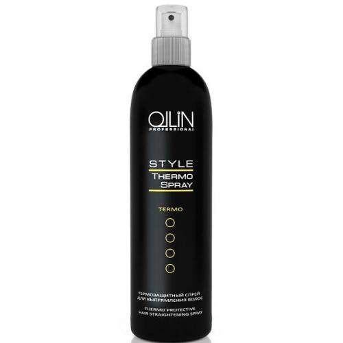 Ollin термозащитный спрей для выпрямления волос