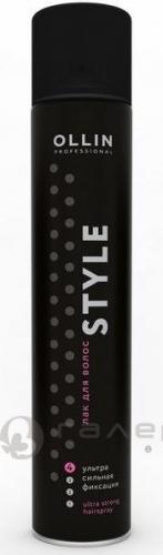 Ollin Лак для волос ультрасильной фиксации без отдушки
