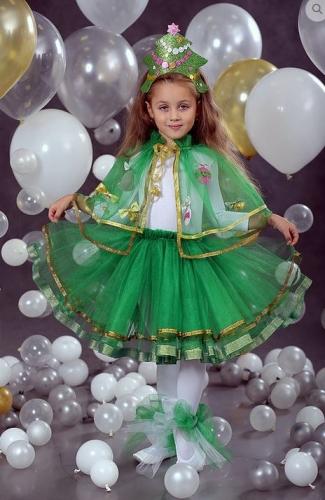 Юбка фатиновая с лентой зеленая