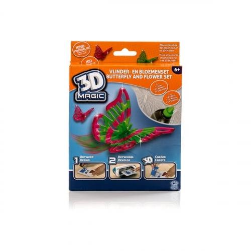 Тематический набор 3D Magic для создания объемных моделей - бабочка и цветок