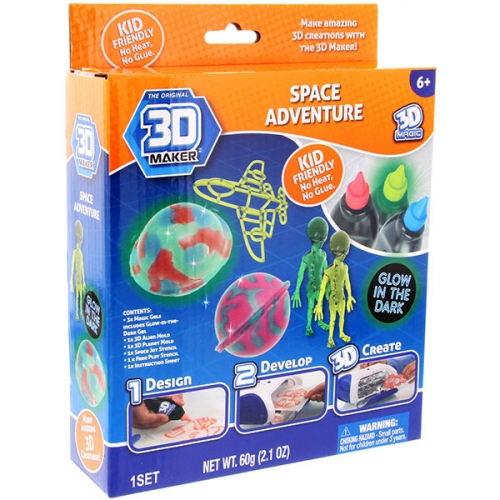 Набор  формочки+гели 3D Maker «инопланетяне»