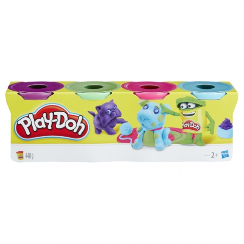 Игровой набор Play-Doh Набор из 4 баночек в ассортименте (обновлённый)