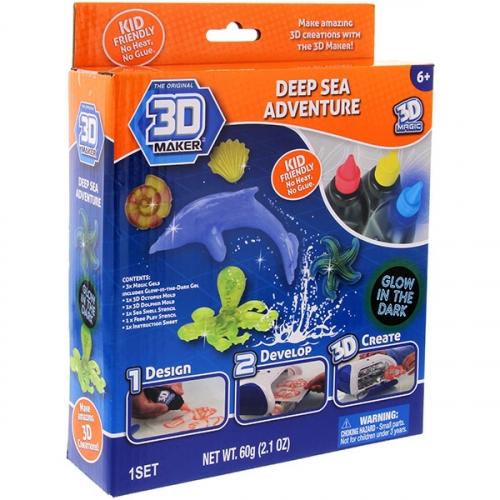 Набор  формочки+гели 3D Maker «Глубоководный мир»