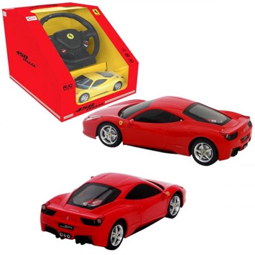 Машина р/у 1:18 Ferrari 458 Italia, с пультом управления в виде руля, 2 цвета