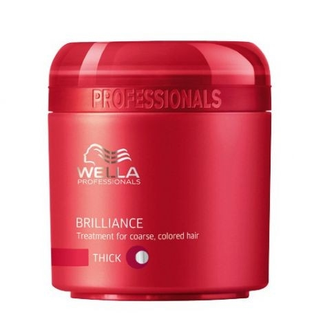Wella Pr. Brilliance mask coarse Крем-маска для окрашенных жестких волос, 150 мл
