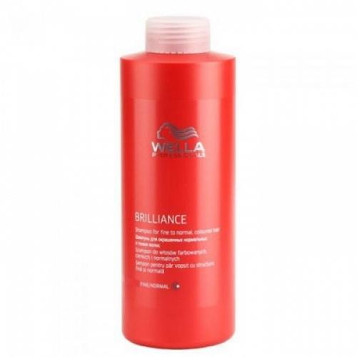 Wella Professional Brilliance - Бальзам для окрашенных нормальных и тонких волос (1000 мл).