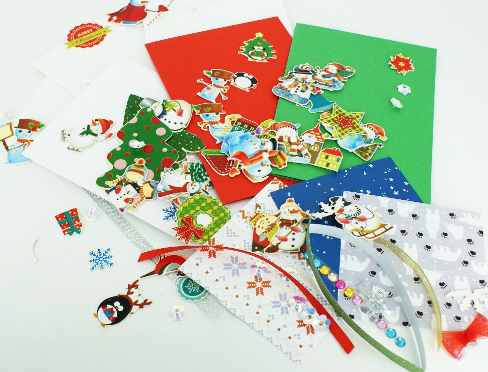 Наборы для создания новогодних открыток своими руками