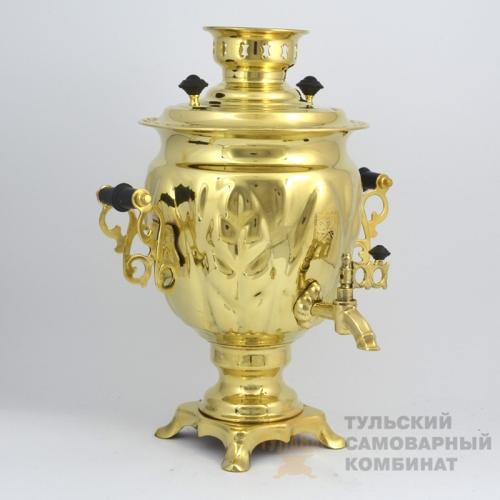 САМОВАР «ЖЁЛУДЬ» 3Л ЛАТУННЫЙ ЭЛЕКТРИЧЕСКИЙ