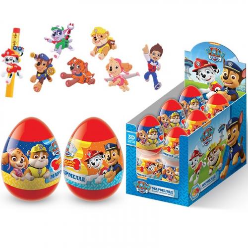 ЩЕНЯЧИЙ ПАТРУЛЬ Драже в пластиковом яйце с игрушкой