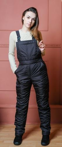 Комбинезон утепленный флисом женский,цвет-черный