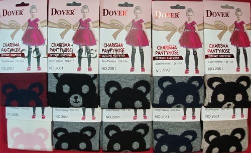 Dover колготки хлопковые для школьниц с рисунком