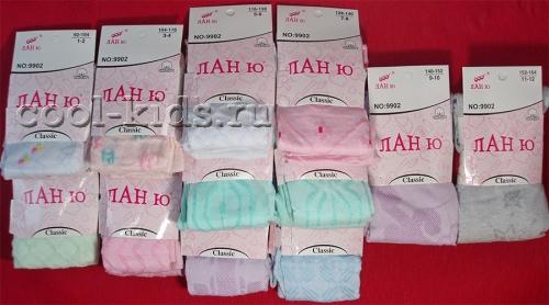Ланю колготки для девочек ажурные цветные размеры-микс арт. 9902