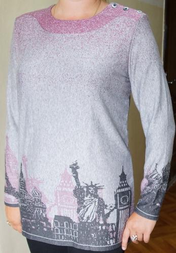 880 блуза жен.удлиненная жаккард 50-60  1080 город