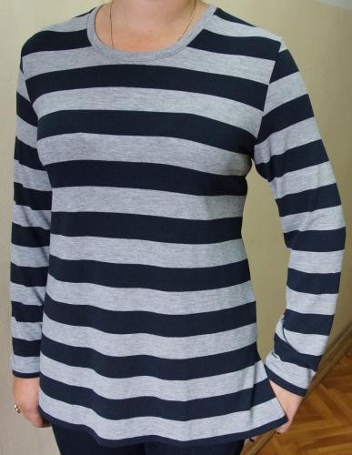624 Блуза  жен. Полоса вязанка  50-64, жакард 52-60  (1050  -  980)