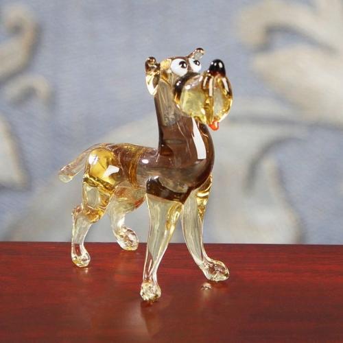Сувенир из стекла миди, собака