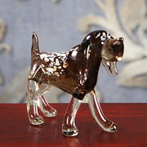 Сувенир из стекла средний, собака