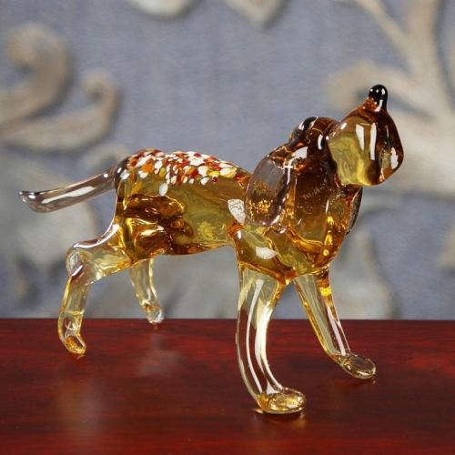 Сувенир из стекла средняя собака