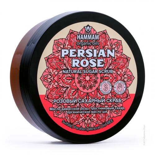 Персидский натуральный розовый сахарный скраб Persian Rose
