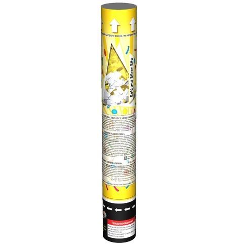 Пневмохлопушка CONFETTI RECTANGLES CM033, 1 штука