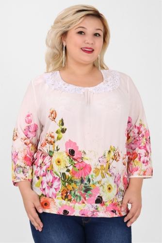 СИМАН 4904 Блуза белый