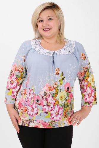 СИМАН 4904 Блуза голубой