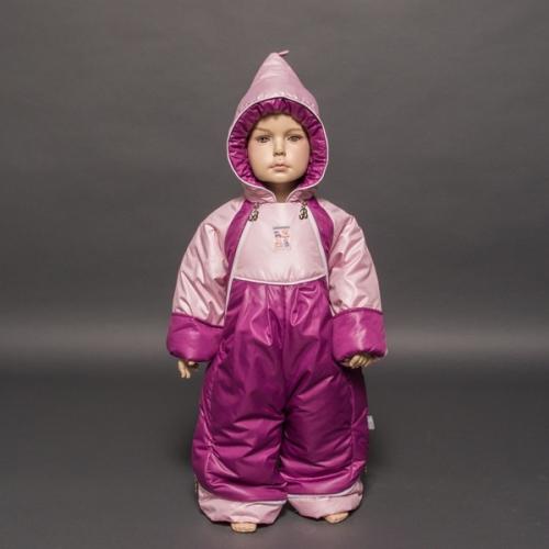 Комбинезон-трансформер Гномик д/с  Расцветка: Брусника/нежно-розовый