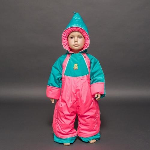 Комбинезон-трансформер Гномик д/с  Расцветка: Розовый неон/зеленый