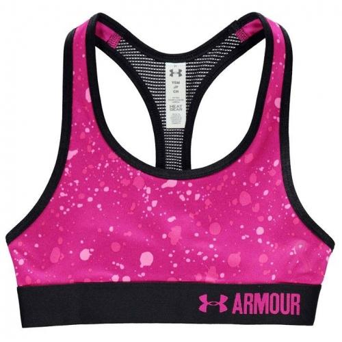 HeatGear Armour Printed Sports Bra Girls
