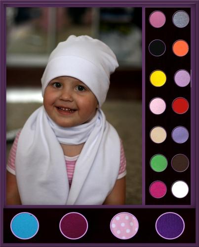 Хлопковые шапочки и шарфики в ассортименте