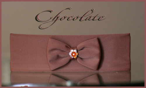 Повязочка на голову Шоколад