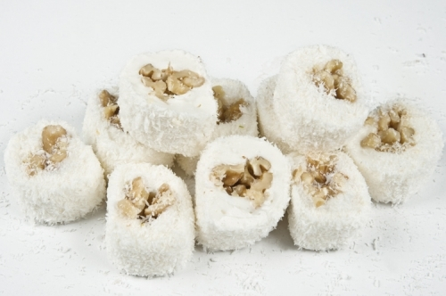 рахат-лукум с орехами (грецкий, фундук, миндаль,кешью)