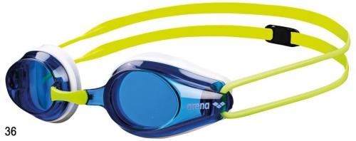 Очки для плавания TRACKS JR blue/white/fluo yellow (20-21)