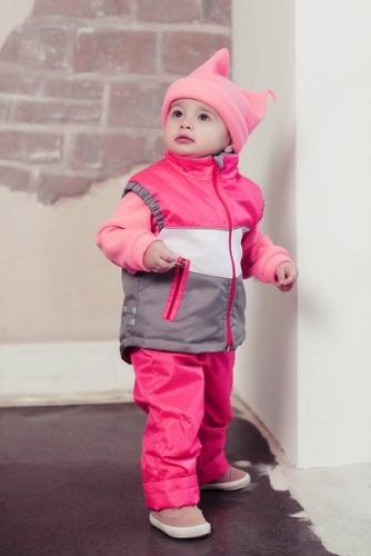 Комплект Фитнес  Расцветка: Малина/Сетка/Серый