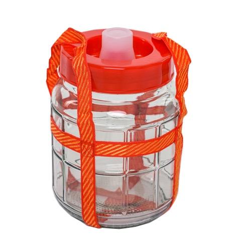 Стеклянная емкость для брожения с гидрозатвором