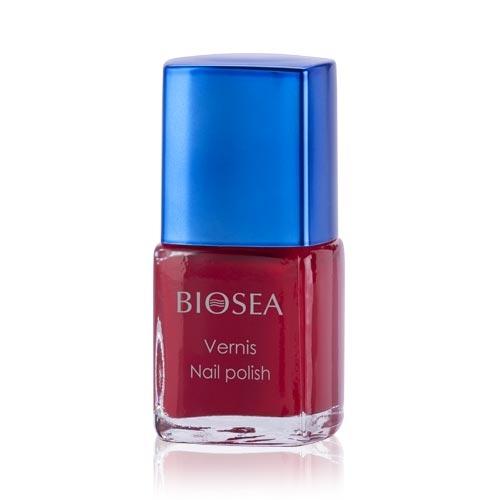 59р  280р Лак для ногтей Interprete par BIOSEA. Пурпурный гранат