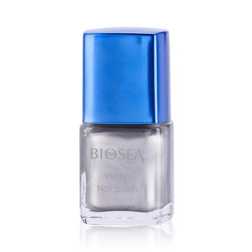 76р  280р Лак для ногтей Interprete par BIOSEA. Серебрянный кристалл