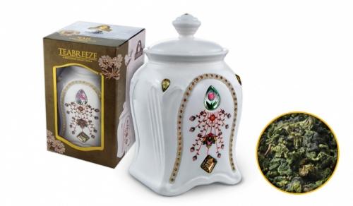 Подарочный набор. Керамическая чайница (Чай