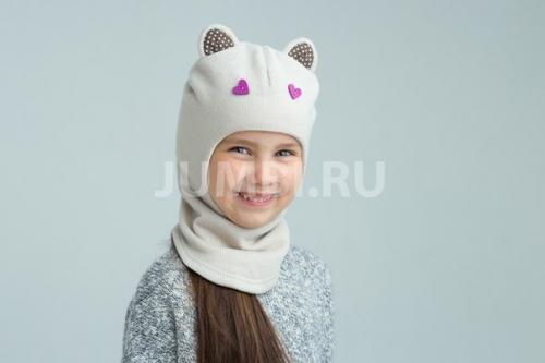 НЕТ В НАЛИЧИИ Шапка-шлем с ушками и значками