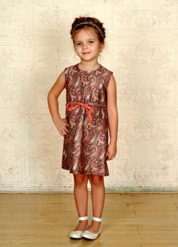 Платье для девочки Русское барокко - Пейсли