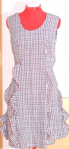 Женское летнее платье в клетку