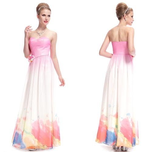 Красочное платье с цветком на поясе из страз