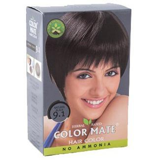 Краска для волос COLOR MATE Hair Color (тон 9.1, черный)