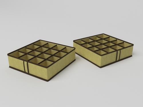 Чехол для мелочей на 16 ячеек 35х35х10см.