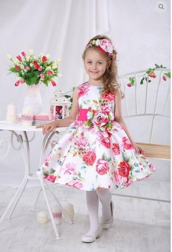 Платье Милана М-257 розы