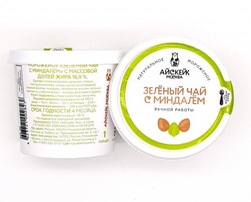 Зеленый чай с миндалем - мороженое